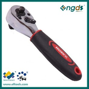 72T double socket ratchet wrench with short handle