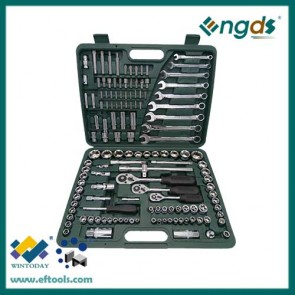 136pcs Chrome-Vanadium steel Material and Combination Wrench Type Ratcheting Wrench Set