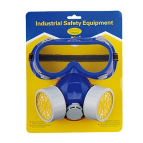 Double-Tank Chemical Mask With Goggle
