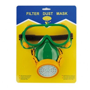 Single-Tank Dust Mask With Goggle