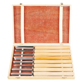 8pcs woodturning tools with grass tree handle 383062