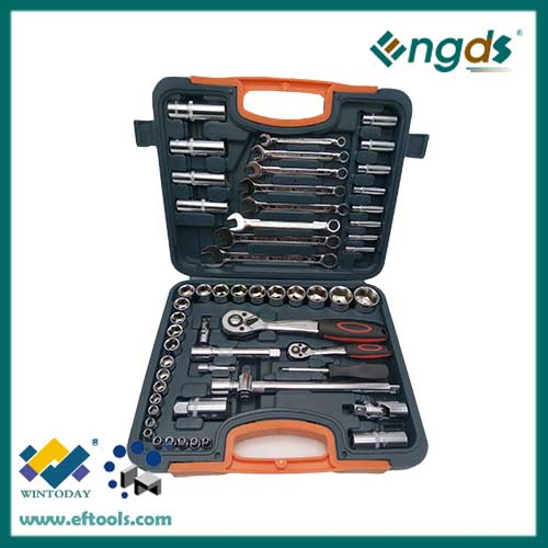 58pcs chrome vanadium spanner set